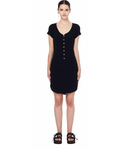 Платье на пуговицах черное L.g.b.