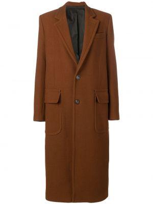 Długi płaszcz wełniany trykotowy Ami Paris