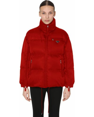 Пуховая куртка с воротником на резинке Prada