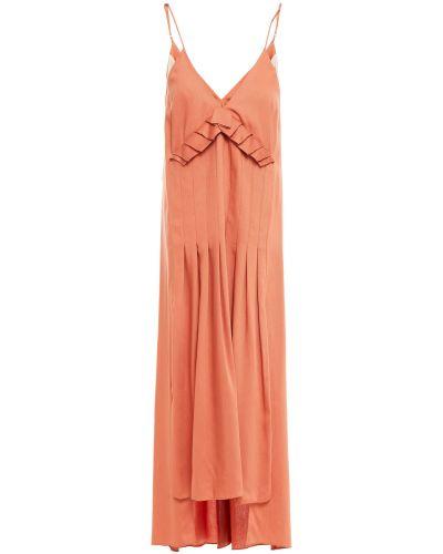 Платье миди - оранжевое Mother Of Pearl