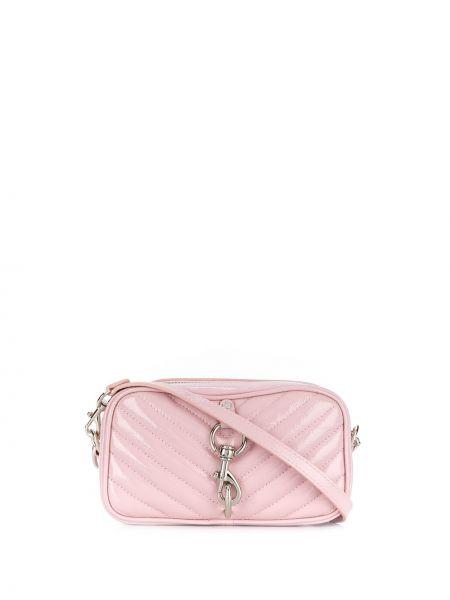 Ремень серебряный розовый Rebecca Minkoff