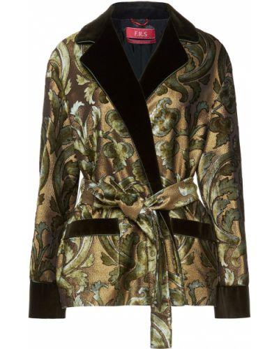 Бархатная куртка - зеленая F.r.s. For Restless Sleepers