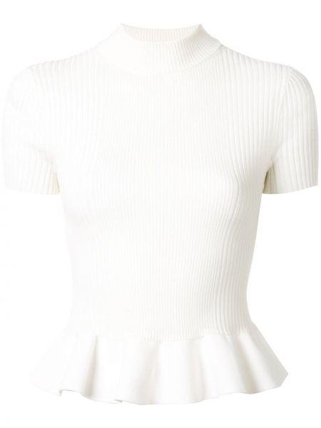 Bawełna bawełna biały koszula z krótkim rękawem krótkie rękawy Alexander Wang