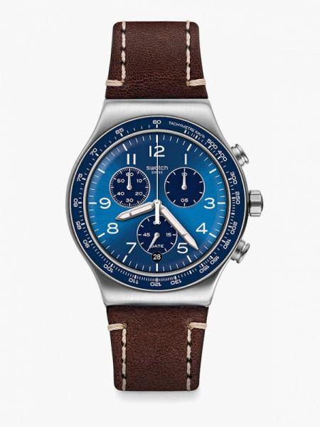 Коричневые часы швейцарские Swatch