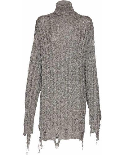 Srebro sweter z lurexem Balenciaga