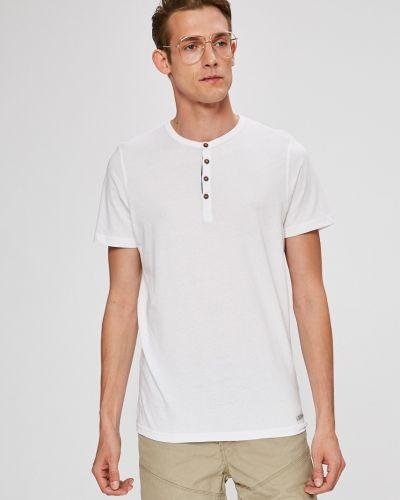 Белая футболка однотонная Brave Soul