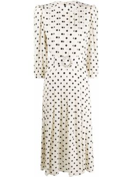 Платье миди в горошек на пуговицах Alessandra Rich