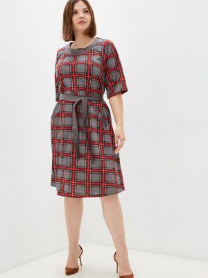 Серое зимнее платье Prewoman