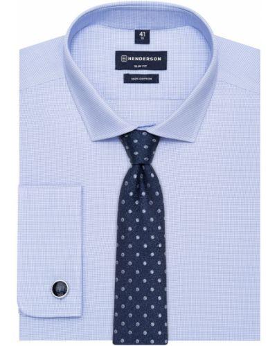 Рубашка с длинным рукавом с манжетами под запонки с узором Henderson