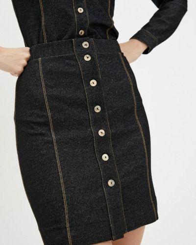 Черная прямая юбка карандаш Promin