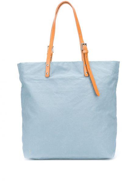 Кожаная синяя сумка на плечо квадратная на бретелях Ally Capellino