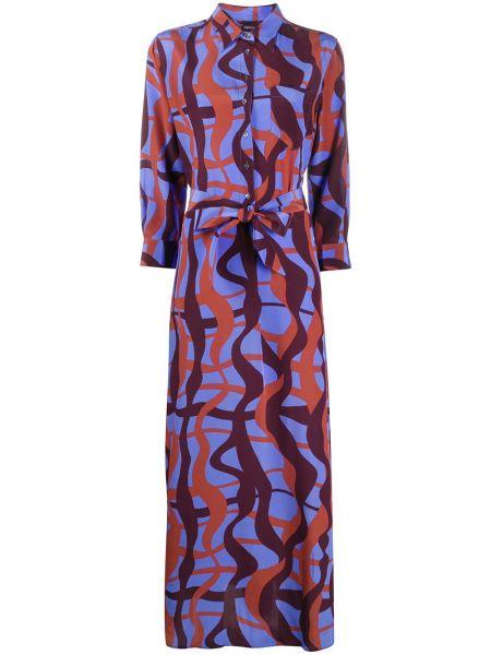 Платье макси на пуговицах с абстрактным принтом Aspesi