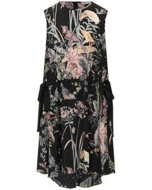 Платье с поясом со складками шелковое Redvalentino