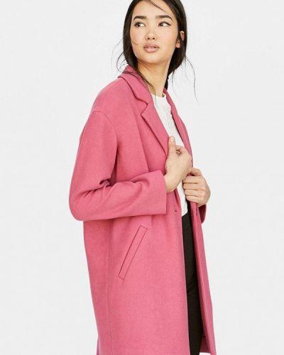 Пальто демисезонное розовый Stradivarius