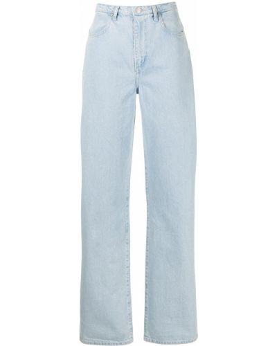 Синие с завышенной талией джинсы на молнии Nobody Denim
