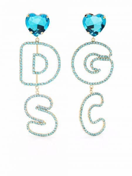 Серьги с логотипом - синие Gcds