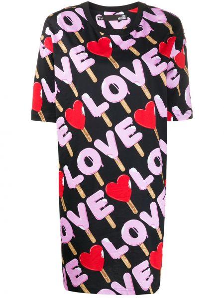 Платье мини футболка прямое Love Moschino