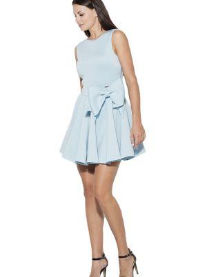 Niebieska sukienka materiałowa Katrus