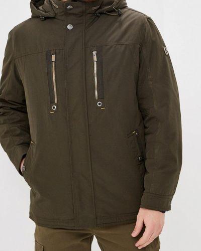 Утепленная куртка демисезонная зеленая Vizani