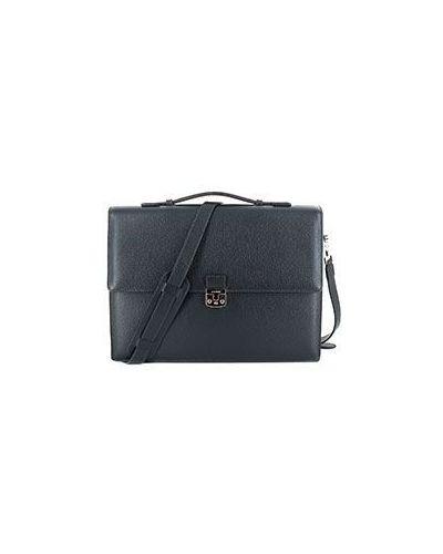 Черный кожаный портфель A.testoni