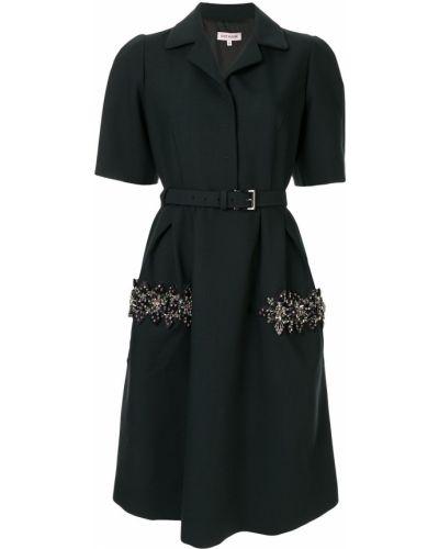 Платье с поясом с вышивкой с бисером Dice Kayek