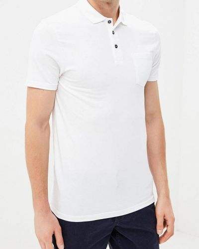 Белое поло с коротким рукавом Burton Menswear London