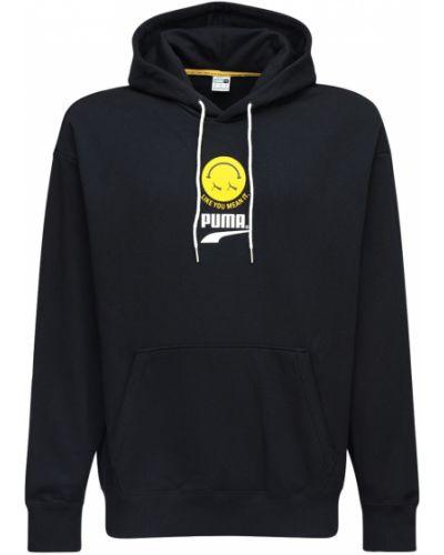Czarna bluza z kapturem bawełniana Puma Select