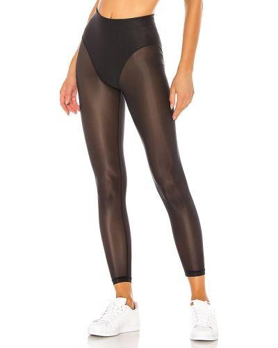 Czarne spodnie z nylonu Adam Selman Sport