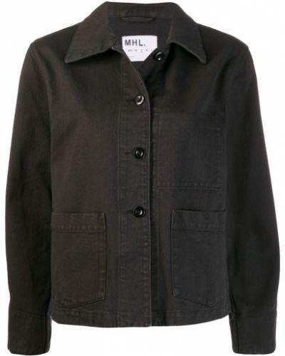 Черная джинсовая куртка на пуговицах Margaret Howell