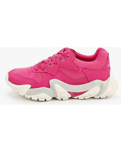 Розовые кожаные кроссовки Caterpillar