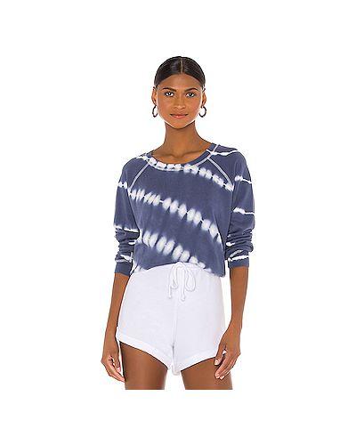 Хлопковый синий свитер крупной вязки Rails
