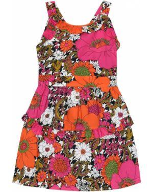 Sukienka ciepły z kwiatowym nadrukiem Gucci Kids