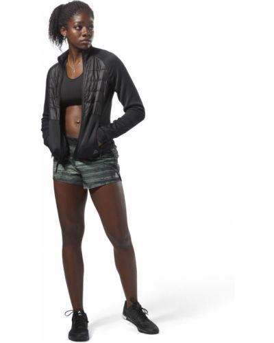 Черная стеганая куртка для фитнеса Reebok