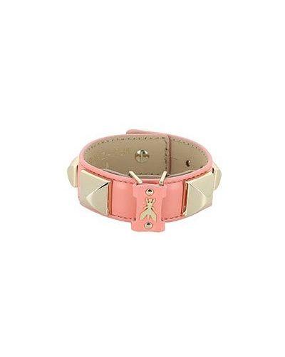 Кожаный браслет розовый Patrizia Pepe