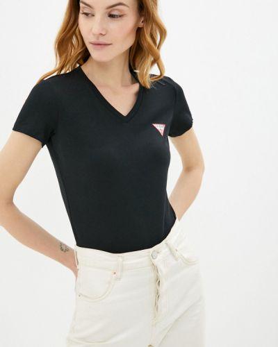 Джинсовая футболка - черная Guess Jeans