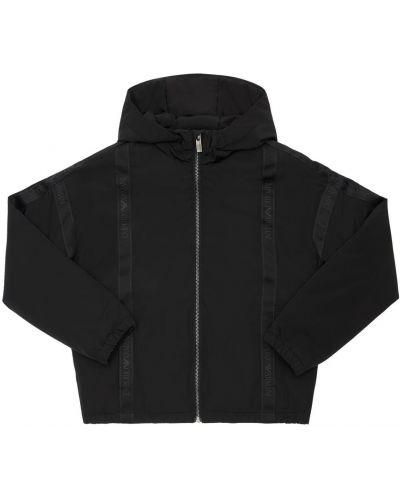 Z rękawami nylon czarny kurtka z kieszeniami Emporio Armani