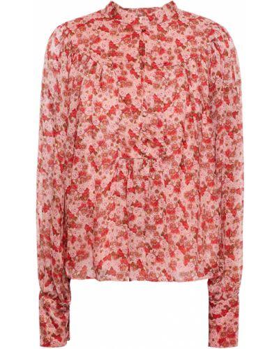 Różowa bluzka zapinane na guziki Bytimo