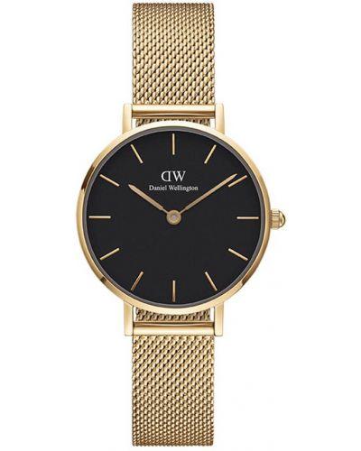 Złoty zegarek - czarny Daniel Wellington