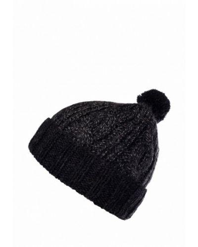 Серая шапка с помпоном Check Ya Head