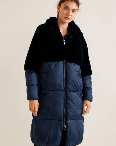 Стеганая куртка в клетку с карманами Mango