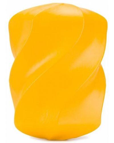 Żółta kopertówka skórzana Bottega Veneta