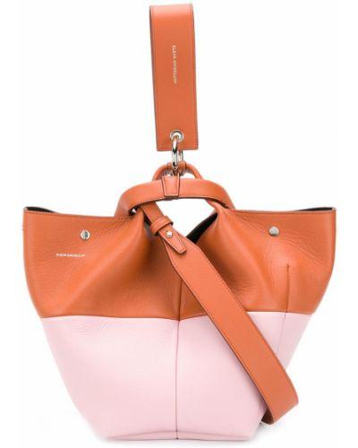 Серебряная кожаная сумка Elena Ghisellini