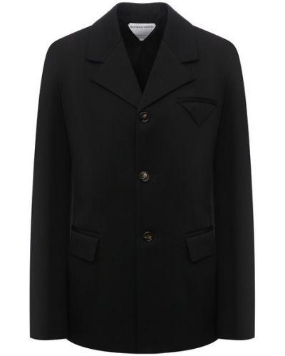 Шерстяной пиджак - черный Bottega Veneta