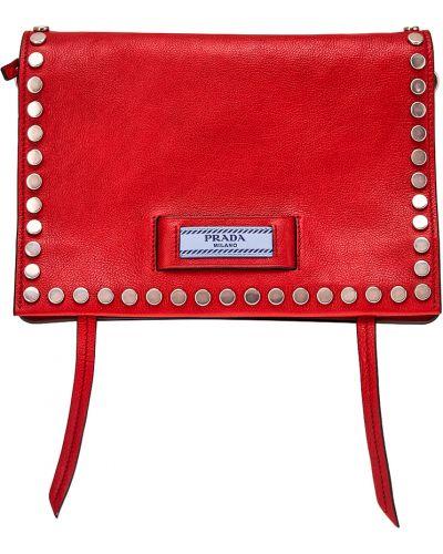Кожаный сумка с клапаном Prada
