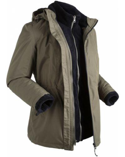 Куртка с капюшоном с карманами черная Bonprix