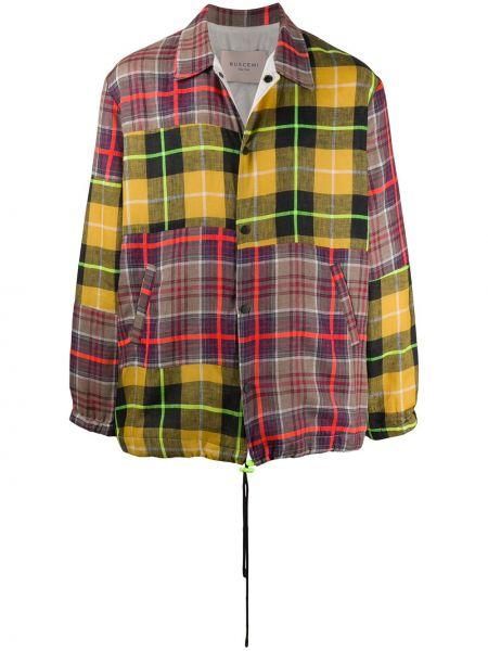 Żółta długa kurtka bawełniana z długimi rękawami Buscemi