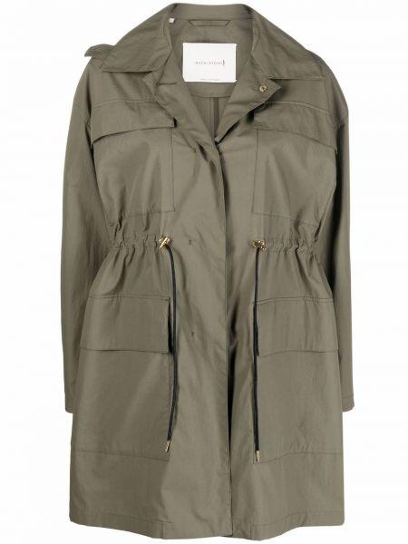 Зеленое пальто с воротником Mackintosh