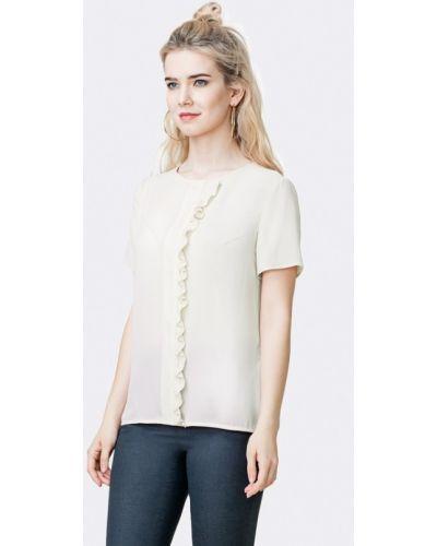 Блузка с коротким рукавом белая Pompa