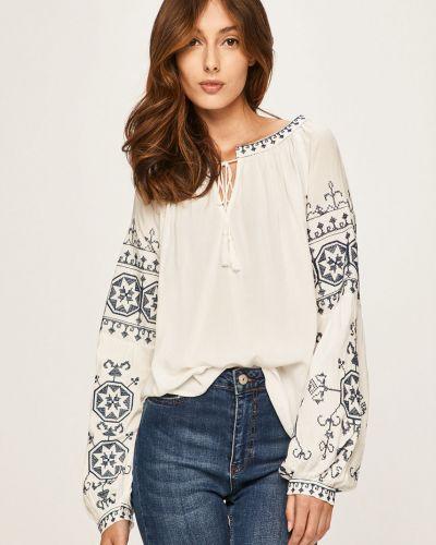Блузка с вышивкой белая Answear