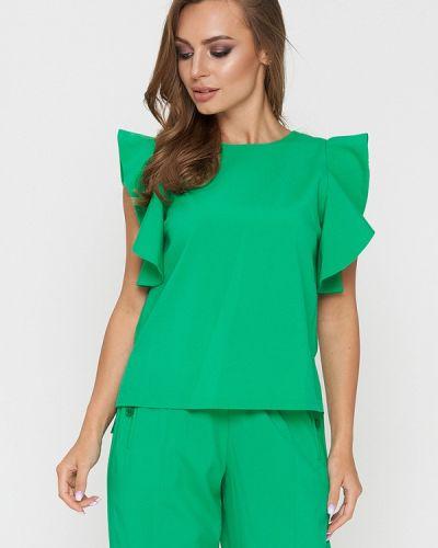 Блузка с рюшами зеленый Sellin